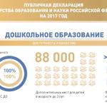 Публичная декларация Минобрнауки России на 2017 год