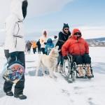 Инвалиды-колясочники совершили поход по льду Байкала